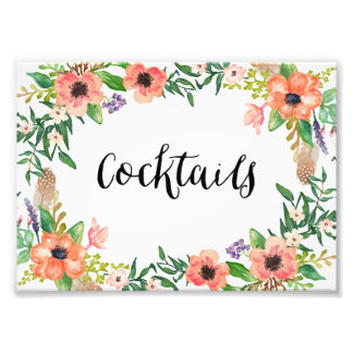 Boho Cocktails Print Photograph