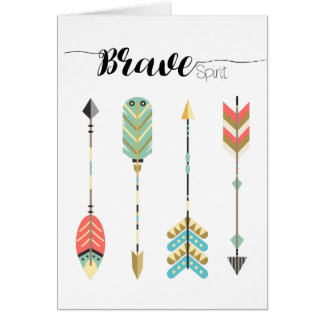 Boho Colorful Arrows Pattern | Greeting Card