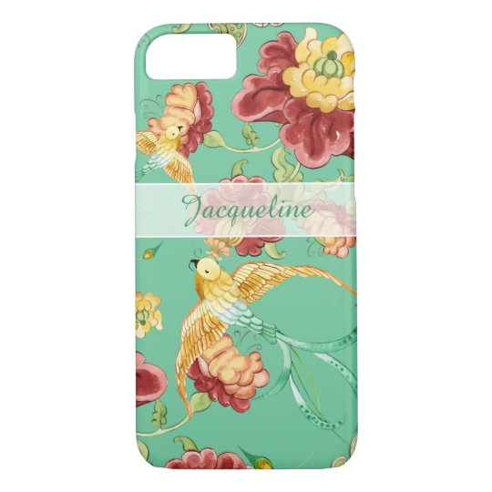 Boho Cottage Modern Bohemian Pattern Flower Birds iPhone