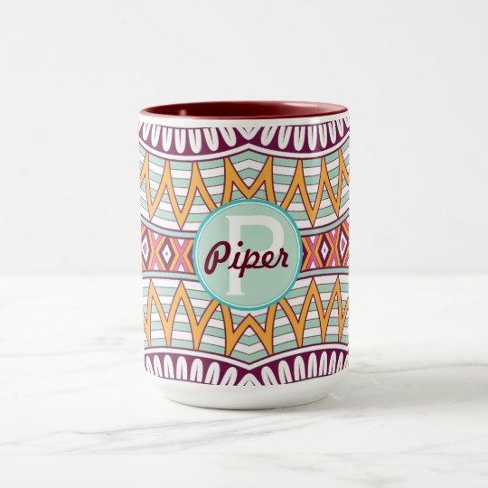 Boho Customisable Multi-Coloured Two Toned Mug