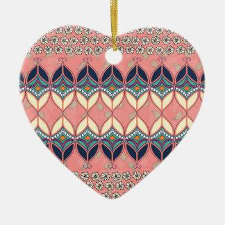 Boho Daisy Ceramic Heart Decoration