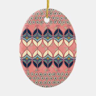 Boho Daisy Ceramic Oval Decoration