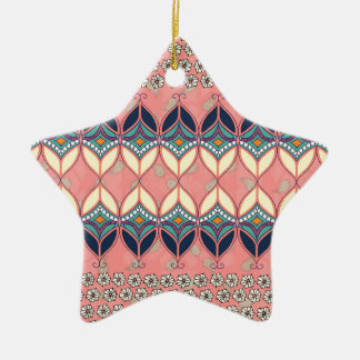 Boho Daisy Ceramic Star Decoration