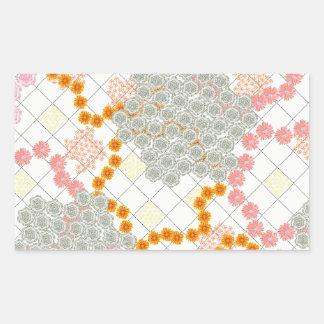 Boho Daisy Chain Rectangle Sticker