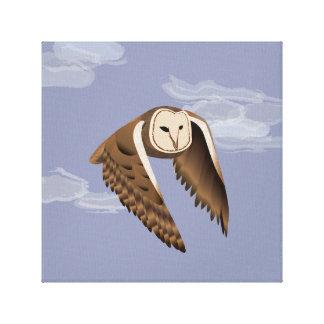 Boho Decor Barn Owl Printed Canvas