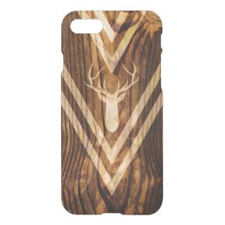 Boho deer on rustic wood iPhone 7 case
