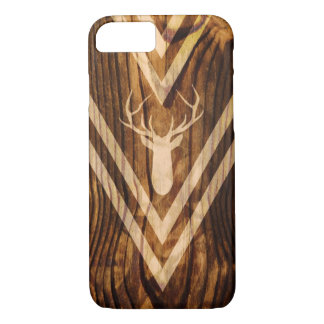 Boho deer on rustic wood iPhone 8/7 case