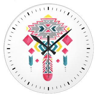 Boho Diamonds II Wall Clock