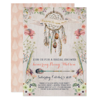 Boho Dream Catcher Bridal Shower Invitations