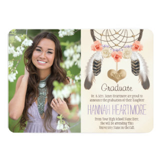 BOHO DREAM CATCHER GRADUATION ANNOUNCEMENT