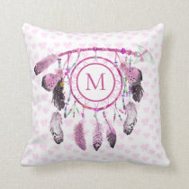 Boho Dream Catcher Native Monogram Cushion