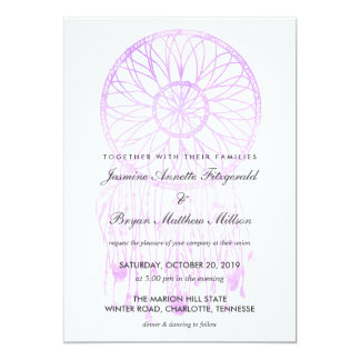 Boho Dreamcatcher Lavender Chic Tribal Wedding Card