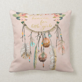 Boho Dreamcatcher Thank Heaven Little Girls Pillow