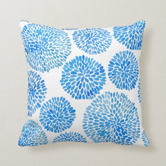 Boho Eclectic Blue Indigo Pillow