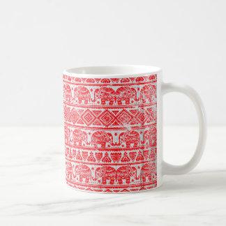 Boho ethnic elephant pattern coffee mug