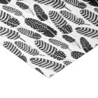 Boho Feather Pattern Watercolor Black and White Tissue Paper