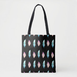 Boho Feathers Tote Bag
