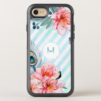 Boho Feathers Watercolor Stripe Floral OtterBox Symmetry iPhone 8/7 Case