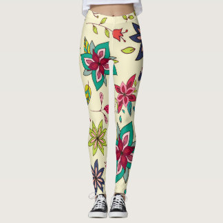 Boho Floral Artistry Leggings
