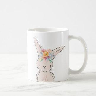 Boho Floral Bunny Rabbit Coffee Cup Mug