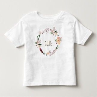 boho floral cute toddler kids t shirt