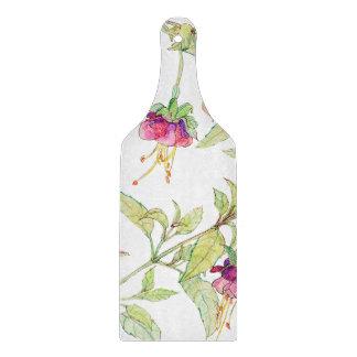 Boho Floral Decorative Glass Chopping Board Paddle