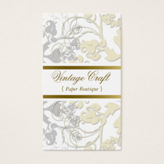 Boho Floral Flourish Eggshell Cream Profile Card