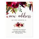 Boho Floral | New Address Postcard