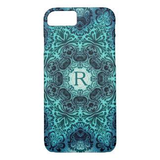 Boho floral paisley turquoise teal mandala henna iPhone 8/7 case