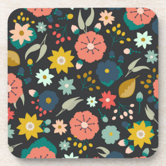Boho Floral Patterned Coasters