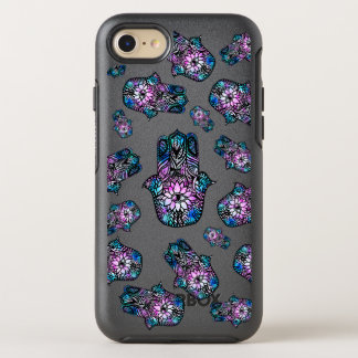 Boho floral watercolor Hamsa hand of Fatima OtterBox Symmetry iPhone 8/7 Case