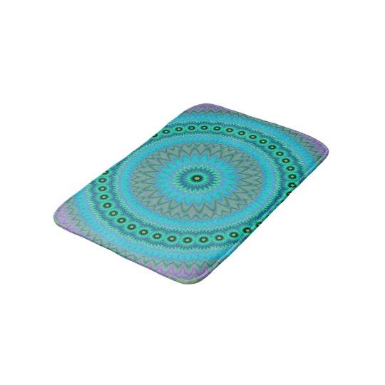 Boho flower bath mat