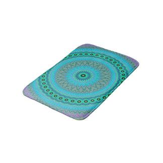 Boho flower bath mats