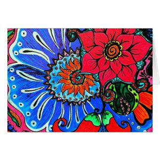 Boho Flower Illustration Blank Notecards Note Card