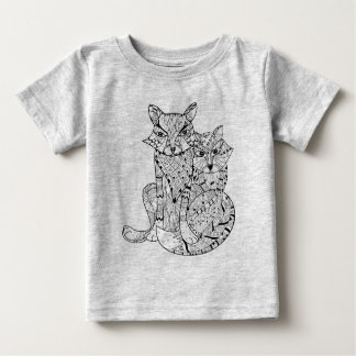 Boho Fox Doodle Baby T-Shirt