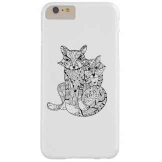 Boho Fox Doodle Barely There iPhone 6 Plus Case