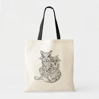 Boho Fox Doodle Tote Bag