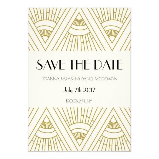 Boho Gatsby save the date Card