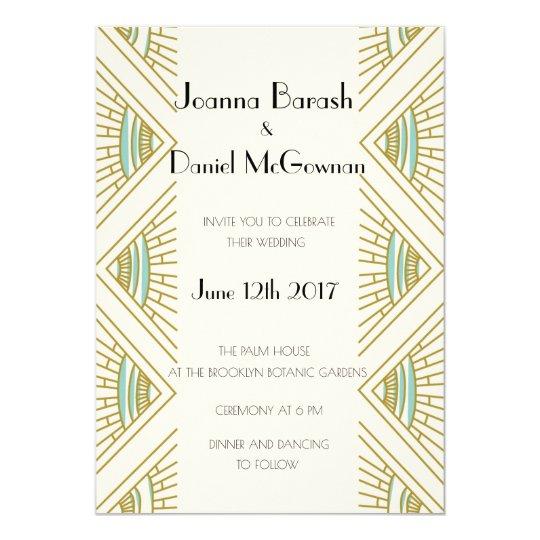 Boho Gatsby Wedding Invitation