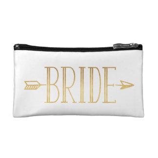 Boho Gold Arrow Bride Bag Makeup Bag