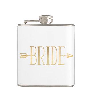 Boho Gold Arrow Bride Flask