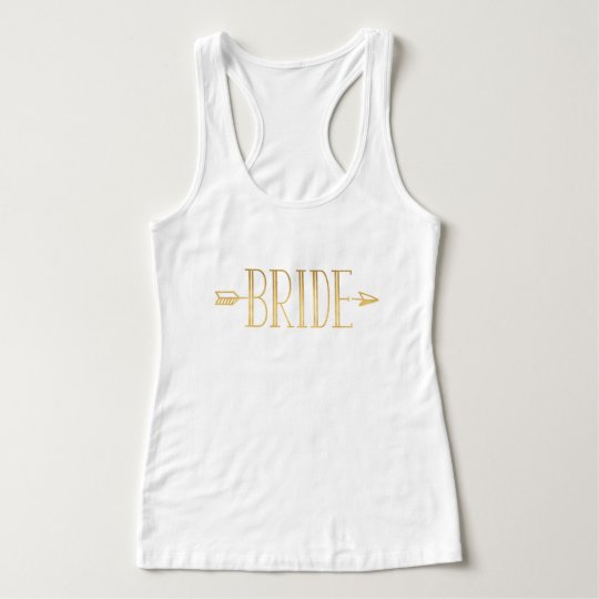 Boho Gold Arrow Bride Tank Top