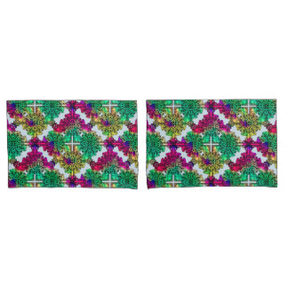 Boho Gypsy Floral Bohemian Colorful Folk Art Pillowcase