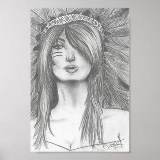 BOHO Indian Girl Poster