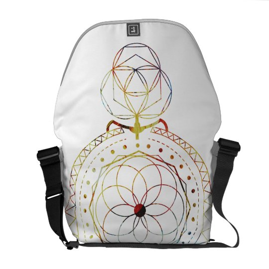 Boho Inspired Sacred Geometry Messenger Bag