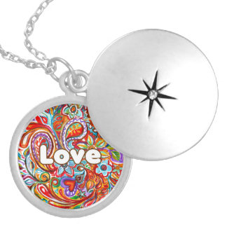 Boho Love Silver Plated Necklace