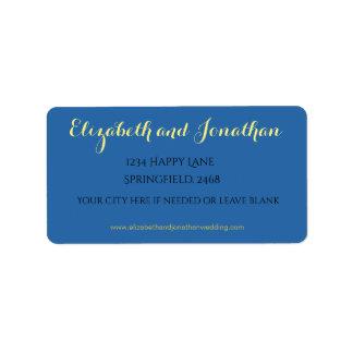 Boho Luxe range of wedding stationary. Label