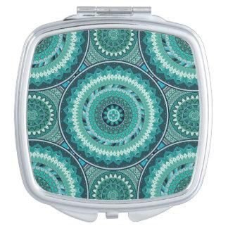 Boho mandala abstract pattern design compact mirrors