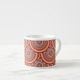 Boho mandala abstract pattern design espresso cup