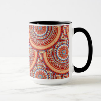Boho mandala abstract pattern design mug